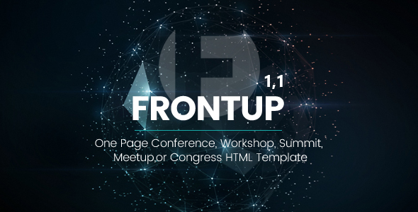 FrontUp - Conference & Event HTML5 Landing Page Template