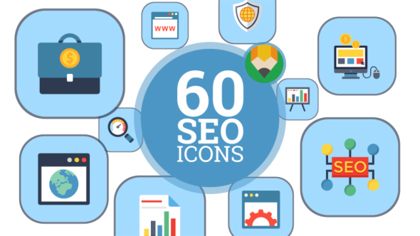 Internet Marketing and SEO Icons - Flat Animated Icon Pack