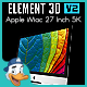 Apple iMac 27 Inch 5K for Element 3D