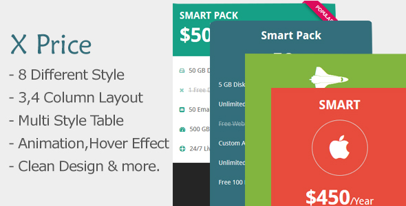 X Price - Responsive Pricing Tables