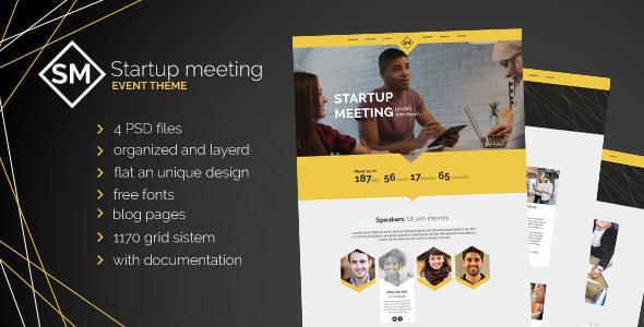 Startup Meeting - Event Website PSD Template