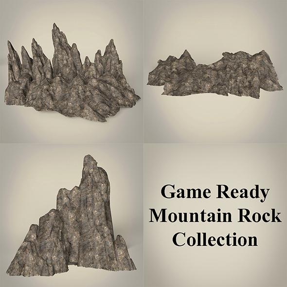 3DOcean Game Ready Mountain Rocks Collection 20127278