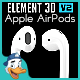 Apple AirPods for Element 3D