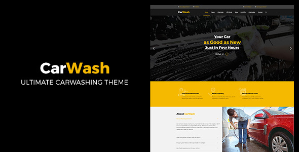 Car or truck Wash | Car or truck Upkeep and Service WordPress Theme (Corporate)
