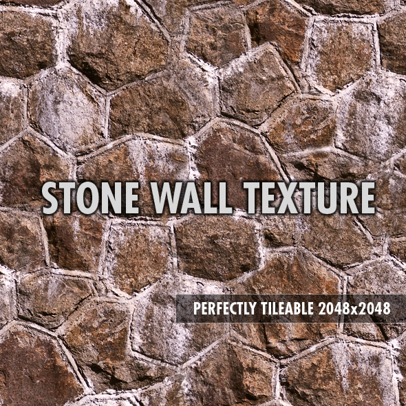 Stone Wall 01 - 3DOcean Item for Sale
