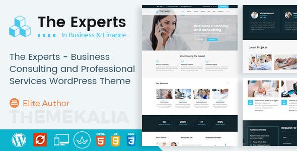 The Specialists – Enterprise Consulting and Experienced Solutions WordPress Theme (Enterprise)