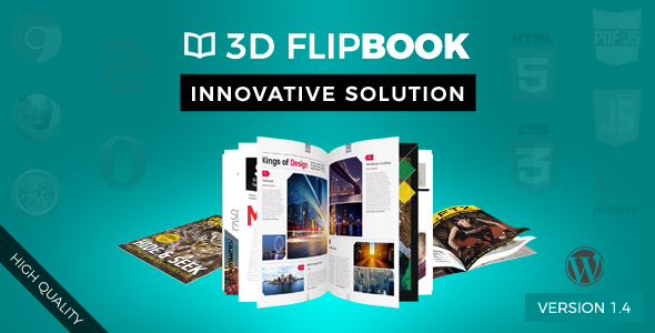 دانلود رایگان Interactive 3D FlipBook Powered Physics Engine WordPress Plugin