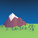 Low Poly Mountain Landscape