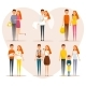 Stages of Family Life Concept Poster. Vector