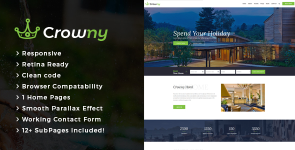 Crowny : Resort and Hotel HTML Template