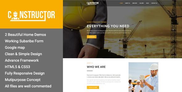 Constructor - Premium Construction WordPress Theme