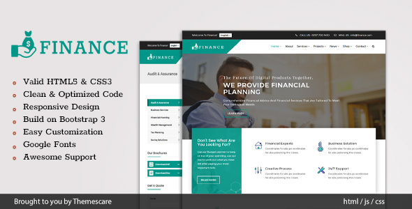 Finance - Consulting & Business HTML5 Template