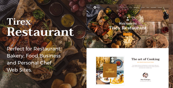 Tirex Restaurant - Theme for Restaurants and Cafes