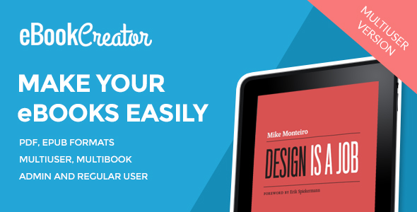 eBook Creator – Multiuser eBook creation system (PHP Scripts) images