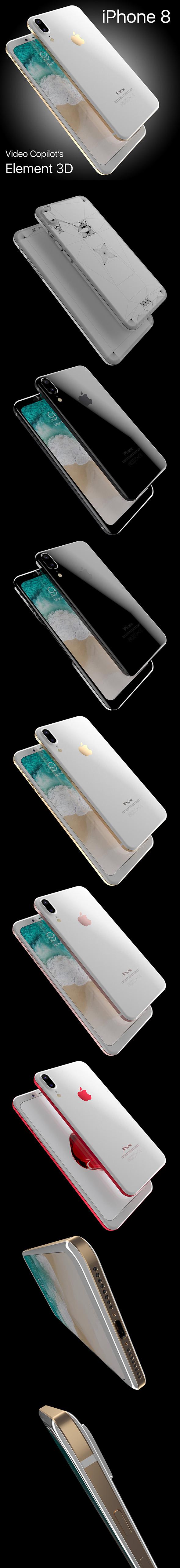 3DOcean Apple iPhone 8 X Concept Leak Corner edges All Colors 20133535