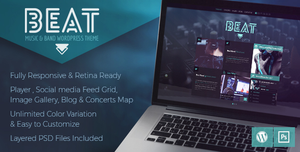 Beat - One-Page Music & Band AJAX WordPress Theme
