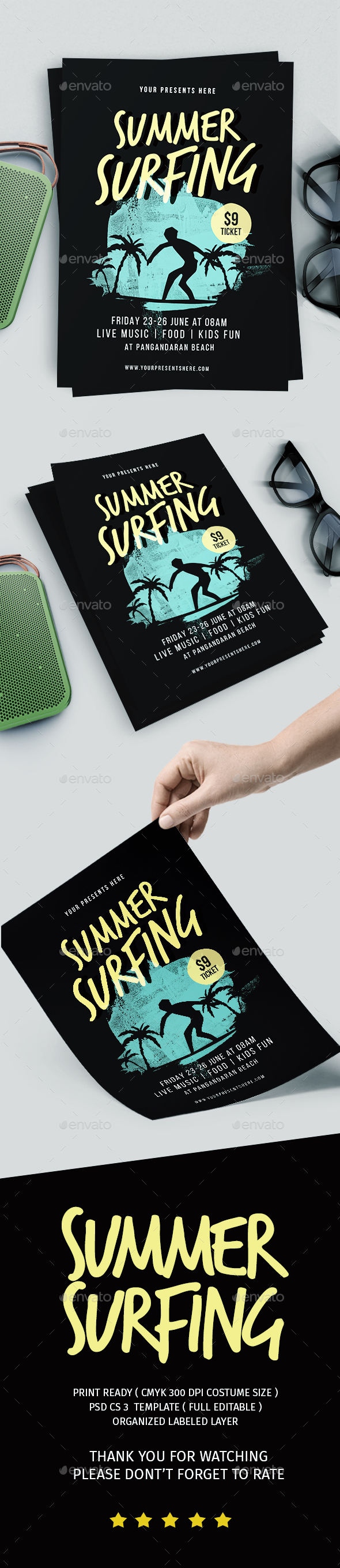 Summer Surfing Flyer