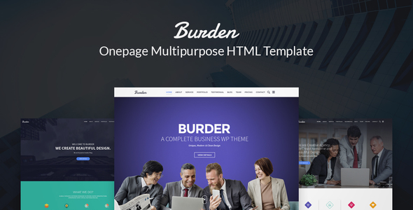 Burder - Responsove Business, Corporate & Agency HTML Template