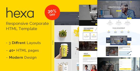 Hexa - Responsive Multipurpose Corporate/Creative HTML Template