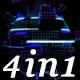 Glow Led Pixel - VJ Loop Pack (4in1)