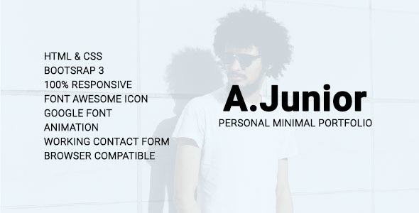 A.Junior Personal/Minimal/Portfolio Template (Personal) images