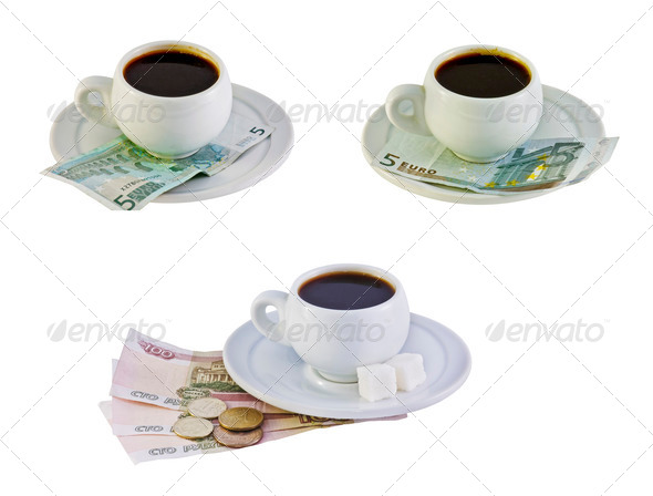 pay for the coffee - Stock Photo - Images