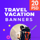 Travel / Vacation Web Ad Marketing Banners