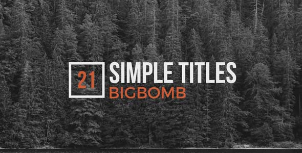 VideoHive Simple Titles 20137446