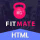 FITMATE - Fitness Studio HTML Bootstrap Theme – Parallax