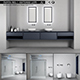 Bathroom furniture set Panta Rel 2