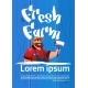 Farmer Cartoon Character Country Man Eco Farming