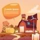 Farm Building Eco Farming Infographics Fresh