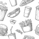 Seamless Pattern of Fast Food
