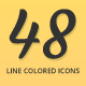 Shopping - Line Colored Icons Set