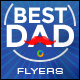 Fathers Day Flyer Template - 3 Color Variations