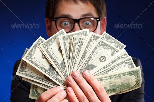 PhotoDune Man with money 1982621