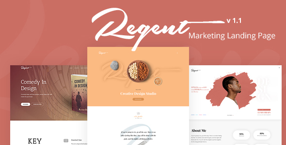 Regent - Multipurpose Marketing Landing page