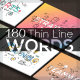 180 Thin Line Conceptual Words