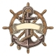 Anchor and Wheel with Ribbon Isolated on Beige