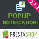 PrestaShop Popup Notification + Social Connect