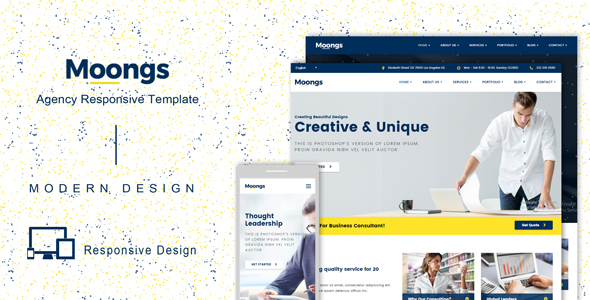 Moongs – Responsive Agency Template (Corporate) images