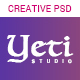 Yeti - Creative Portfolio PSD Template