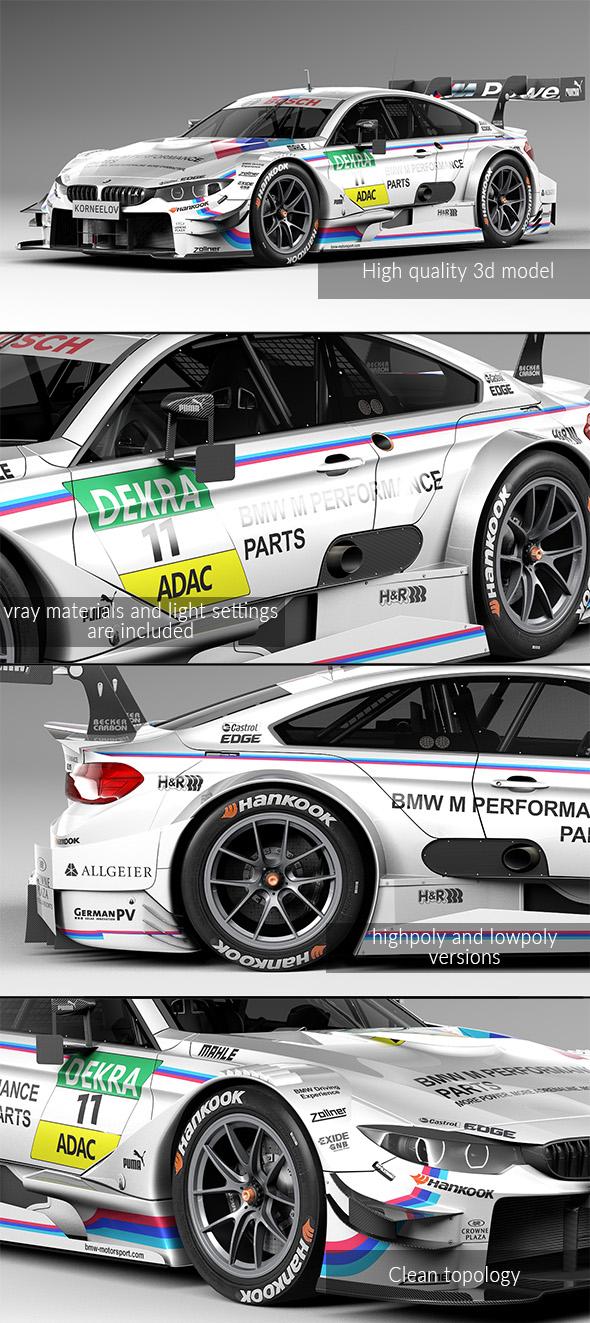 3DOcean BMW M4 DTM 2015 20133347