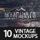 10 Grunge Retro Vintage Mock-ups