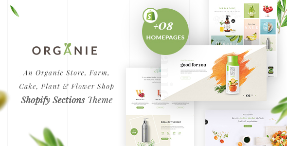 Organie – An Organic Retailer, Farm, Cake and Flower Shopify Sections Theme (Shopify)