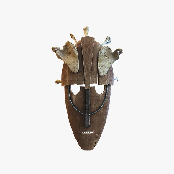 3DOcean Mask with bones 20133556