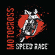 Motocross Speed Race Tshirt Design