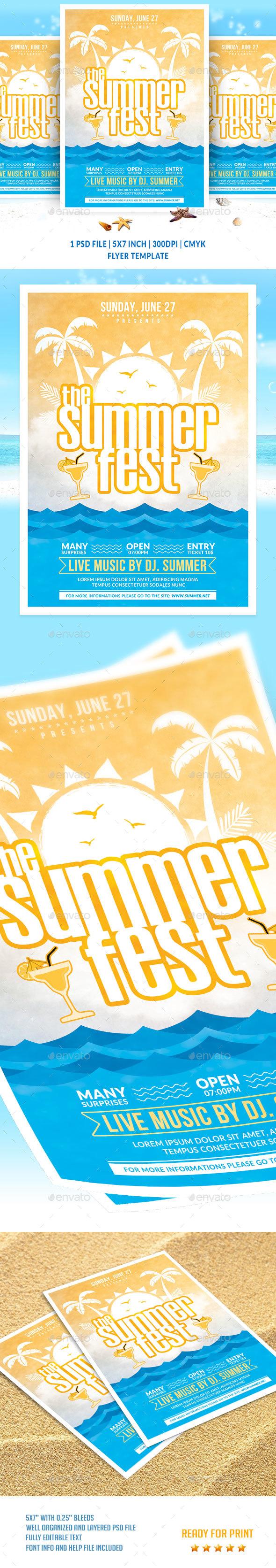 The Summer Fest Flyer Template