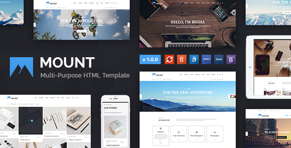 Mount – Multi-purpose Business HTML Template