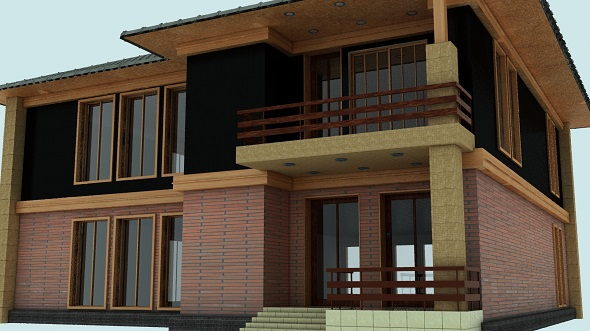 Modern two-storey cottage 004